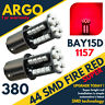 44 Leds 360° LED Rojo Freno/Cola Freno / Lateral Bombillas 1157 BAY15D P21/5W