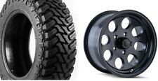 "(5) 17"" ION 171 Black Wheels Jeep Wrangler JK 35"" Atturo MT Mud Tires Package"