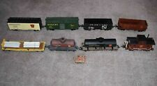 Piko G Scale Freight Cars (8) + Hand Made Pump Car (1) - Nicely Weathered - Used