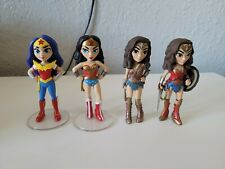 Lot of 4 Wonder Woman Funko Vinyl Rock Candy Figures