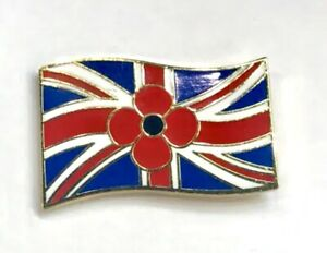 COLLECTABLE MILITARY SOLDIER UNION JACK FLAG LAPEL REMEMBRANCE PIN BADGE