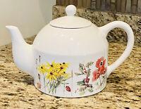 Vintage 1997 Marjolein Bastin Porcelain Teapot Flowers & Butterflies