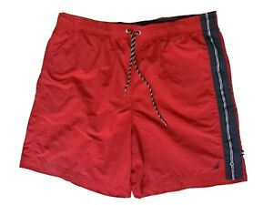 Nautica Swim Trunks Mens XL XLarge Red swimwear pockets MINT Beach Shorts Logo