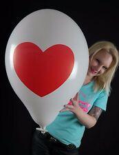 """3 x große TUFTEX 17"""" Luftballons HERZ *HEART*LOVE*LIEBE*TUF-TEX*"""