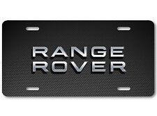 Range Rover LAND ROVER Aluminum Car Auto License Plate New British Carbon