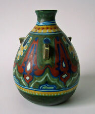 Vase Rhodian Gouda Holland Keramik handgemalt Art Nouveau Deco Arts&Crafts