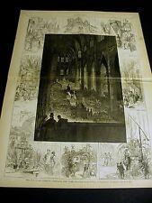 St. Patricks Cathedral Fair 1878 Dominican Church Cardinal Chair Large Print