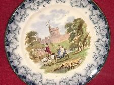 Staffordshire Children's Toy Set Plate With Windsor Castle Ca. 1860
