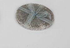 Perlen Untersetzer Silber 10cm Formano