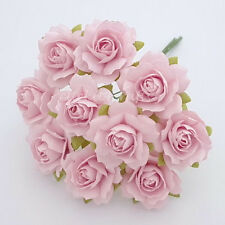 50 Mulberry Paper Flowers Wedding Headpiece Scrapbook Cards Basket Rose ZR5-2