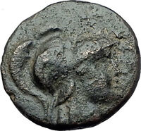 PERGAMON in MYSIA 150BC Authentic Ancient Greek Coin ATHENA and TROPHY i61765