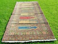 Turkish Vintage Runner Rug Anatolian High Quality Wool Traditional Carpet 3x9ft.