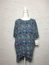 Lularoe Womens Irma Tunic XS Blue Multi Color