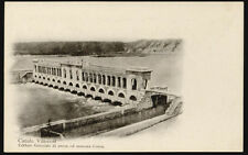 tarjeta postal CANAL VILLORESI edificio generale de toma de