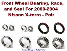 Front Left or Right Wheel Bearing, Race, Seal for 1999-2004 Nissan Xterra - Pair