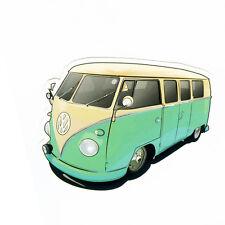 "#1101 VOLKSWAGEN vw Bus Retro Camper Van Vintage Art 9x7cm 3"" DECAL STICKER"