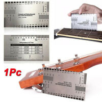 String Action Gauge Ruler Stainless For Luthier Guitar Bass Fork Measuring Tool