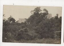A Glimpse Of The Castle Ruins Bramber Sussex Vintage RP Postcard 613b