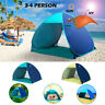 Pop Up 3-4 Person Portable UV Shelter Outdoor Camping Hiking UPF50+ Beach Tent