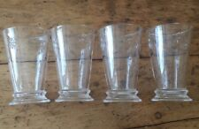 BEAUTIFUL SET OF 4 NEW EMBOSSED BUMBLE BEE TALL GLASS TUMBLER GOBLET GLASSES