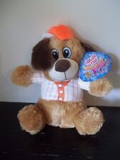 "2015 SUGAR LOAF TOYS TEDDY BEAR BASEBALL OUTFIT NWT 11"" PLUSH ECO-FRIENDLY"