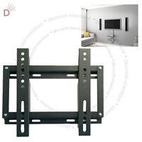 "TV WALL MOUNT FIXED WALL BRACKET 13"" - 27"" LED LCD VESA 50 75 100 200"
