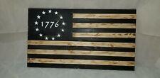 New listing America Wood burnt Flag 19x36 inches