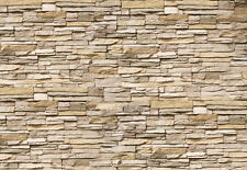 Tapete Asia Stone Nr.239 Größe: 400x280cm Steine 3D Wandklinker Wohnzimmer TOP