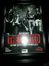 The Wanted Beacon Theater Fuse Original Promo Poster Ad Framed!