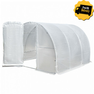Outdoor Large Walk In Greenhouse Transparent Polytunnel With Metal Frame Cover