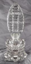 Vintage Depression Glass Perfume Bottle with Stopper dmej
