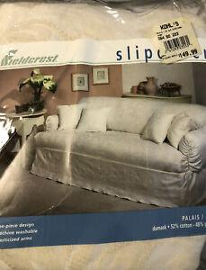 Vintage fieldcrest slipcover for sofa- cream- NEW