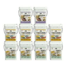 Augason Farms Deluxe 4-Month 1-Person 10 Pail Kit Pouches Emergency Food Meals