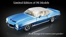 ACME 1972 Pontiac LeMans in Lucern Blue Diecast Car 1:18 A1801204VT NEW RELEASE