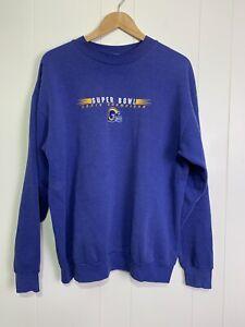 Vintage NFL St Louis Rams STL LA Super Bowl XXIV 2000 Crewneck Sweatshirt Mens L