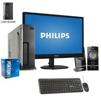 "Pc Desktop Completo CPU Intel WINDOWS 10 Ssd 480GB/Ram 8GB/Monitor 22"" pc office"