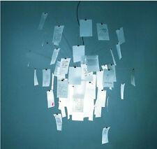 New 120cm paper notes chandelier card ceiling design modern pendant light