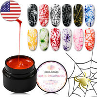 12 Colors MEET ACROSS 5ML Spider Liner Drawing UV Gel Nail Polish Soak Off Gel