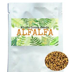 Organic Microgreen Seeds Sprouting Alfalfa Onion Pea Sunflower 60g