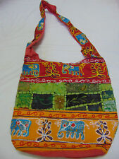 Embroidered Cotton Sequins Jhola Tote Stylish Indian Gujrati ethnic fabric Bag