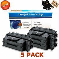 5 Pack High Yield CE505X 05X Toner Cartridge for HP LaserJet P2055d P2055dn