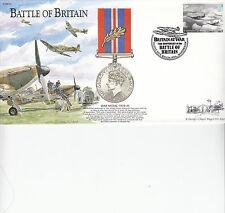 BB24 batalla de Gran Bretaña Medalla de Guerra Raf Cubierta 75th batalla de Gran Bretaña 2015 FDC Ann