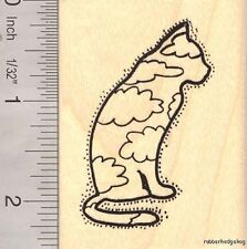 Spirit Kitty Cat Rubber Stamp H12215 WM Pet Loss