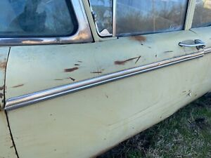 1958 1959 Ford Ranch Wagon Driver Side Front Door Stainless Chrome Trim