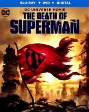 THE DEATH OF SUPERMAN(BLU-RAY+DVD+DIGITAL) NEW* W/SLIPCOVER