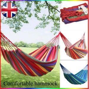 Outdoor Hammock Garden Camping Canvas Hammock Double Hanging Bed Swing