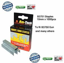 Heavy Duty 1000pc 10mm Staples B3751 Gun Upholstery for use with B3750 New box