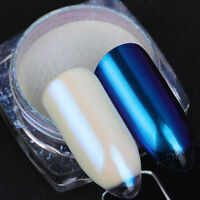 Shimmer Nail Art Chameleon Powder White Pearl Mirror Chrome Pigment Born Pretty