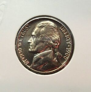 1960-D VERY NICE UNCIRCULATED UNITED STATES JEFFERSON NICKEL ......#11938