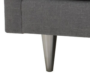 """7"""" Stainless Steel Metal Furniture Legs Sofa Chair Loveseat Sectional Set of 4"""
